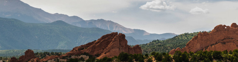 Rolling mountains at Garden of the Gods Resort & Club