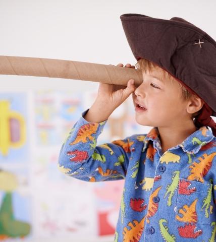Child Playing Pirate