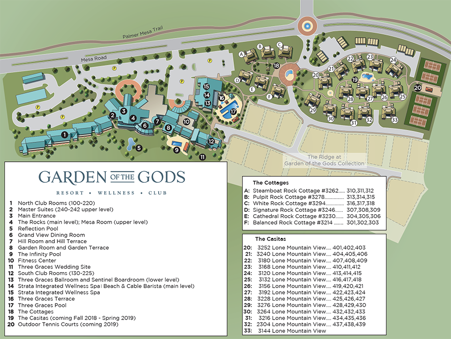 Resort Map of Garden of the Gods Resort and Club