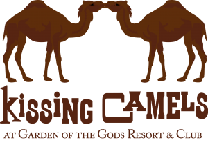 Kissing Camels logo at Garden of the Gods Resort & Club