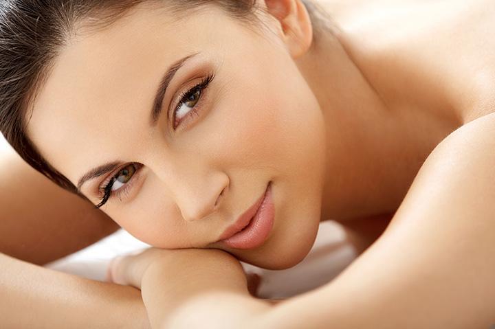 girl smiling at spa
