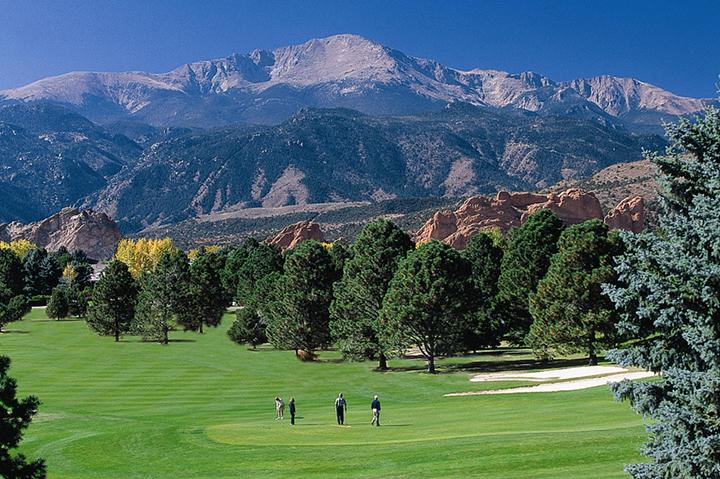 group of men golfing in colorado springs