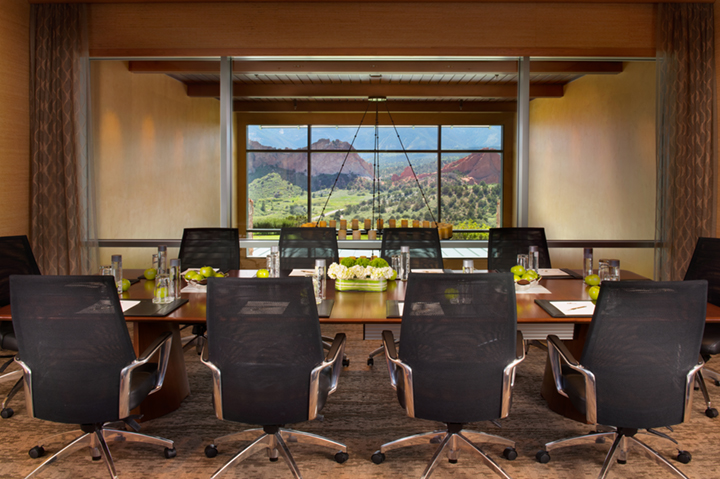 meeting room with mountain views
