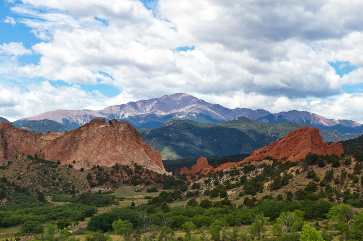 pikes peak summer view