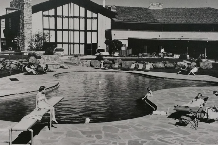 historical pool outside garden of the gods