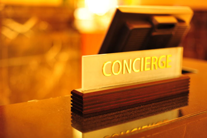 concierge desk sign