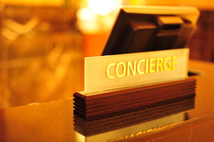 concierge desk sign