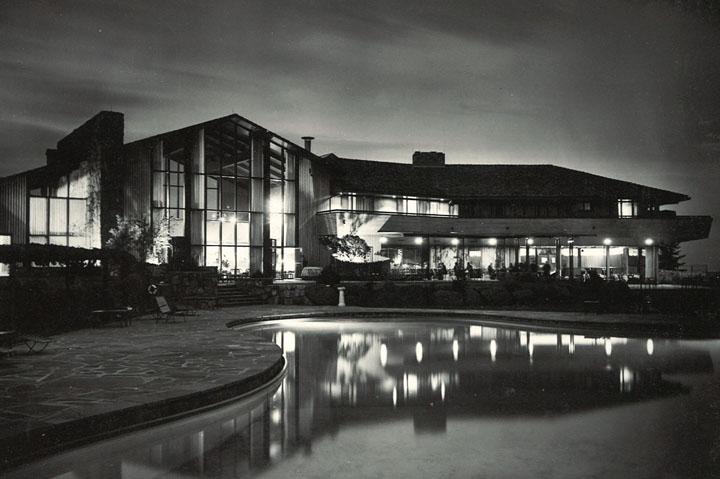 black and white pool