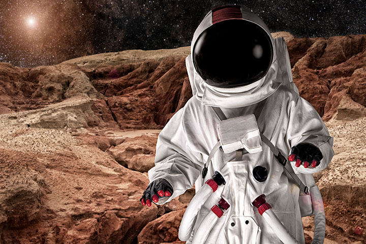 astronaut mission on mars