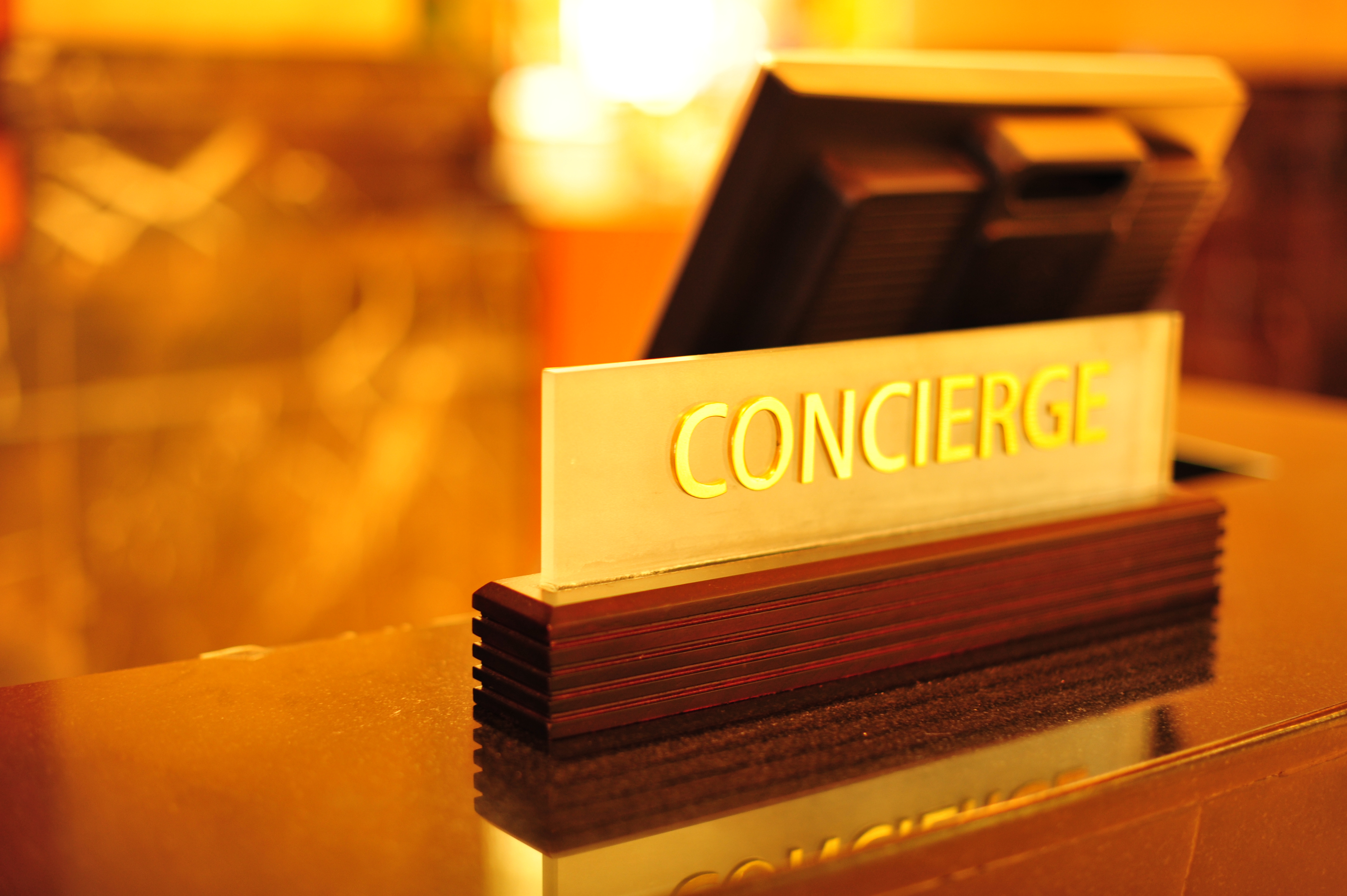 concierge sign at garden of the gods resort